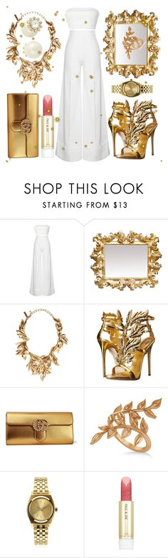 """Sparkling"" by lullulu ❤ liked on Polyvore featuring Oscar de la Renta, Giuseppe Zanotti, Gucci, Allurez, Nixon, Paul & Joe and Kate Spade"