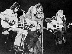 Crosby, Stills, Nash & Young at Woodstock.