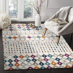 Anzali Colourful Power Loomed Modern Rug by Network Rugs. Get it now or find more All Rugs at Temple & Webster.