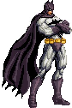 clean batman pixel art