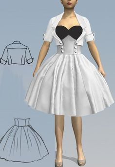 Rockabilly  Swing Skirt and Jacket  by Amber Middaugh 2015