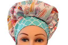 Scrub Cap Surgical Hat Chemo Chef Nurse Vet Dentist Hat Tie