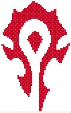 Horde Symbol Cross Stitch Pattern by HappyCupcakeCreation on Etsy, $3.00