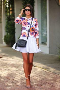 ボタニカル 白スカート