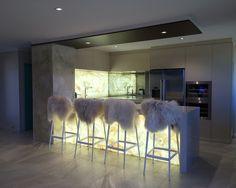 Bar with Backlit Onyx