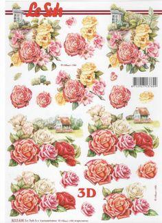 Feuille 3D fleurs : Feuilles 3D à découper rose rouge http://fournitures-loisirs.les-creatifs.com/feuilles-3d.php?refer=Rose-rouge-3D Format A4 21 cm x 29,7 cm pour réaliser des tableaux 3D.