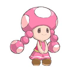 Toadette! wish she were in the newest mario party