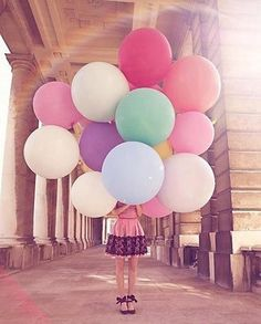 36 inch Rainbow Balloons / Birthday Balloon Bouquet Kit