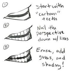 How to draw teeth