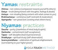 The Beauty of Yamas and Niyamas | YogaTouchMethod
