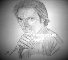 EVERY WHICH WAY BUT LOOSE GRAPHITE  ORIGINAL PENCIL DRAWING CLINT EASTWOOD FIGHT #Realism