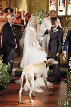 The couple, with ring-bearer Alfie. Photographed by Rachel Chandler, Vogue, December 2012