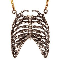 bizarre/cool necklace - i'd switch out the chain for a silver rope chain.