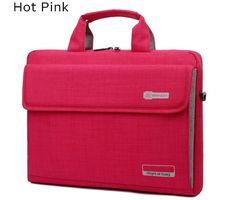 Big Capacity Nylon 14 Inch Laptop Handbag Black Shoulder Bag Protective Case Cover For Macbook Pro Air Reina Hp Sony Nylons, Macbook Pro Cover, Macbook Case, Laptop Shoulder Bag, Black Shoulder Bag, Laptop Messenger Bags, Laptop Bags, Pink Laptop, Notebook Case