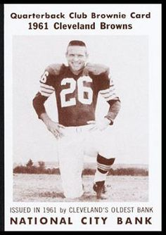 Ray Renfro 1961 National City Bank Cleveland Browns History 714082588
