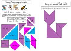 coloriage tangram magique le chat