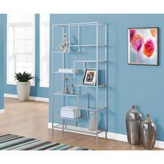 $132 Metal Media/Bookshelves: Organize your living room with modern bookshelves