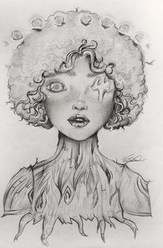 """""""Segue teu destino... rega as tuas plantas; ama as tuas rosas. O resto é a sombra de árvores alheias"""" - Fernando Pessoa Arte baseada na Saccstry, com lápis e caneta #illustration #drawing"""