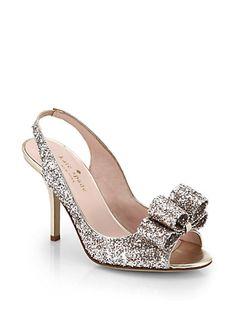 bfe15612795 Kate Spade New York - Charm Glitter   Leather Slingback Pumps