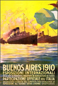 Buenos Aires 1910 International Exhibition http://stores.ebay.com/Vintage-Poster-Prints-and-more