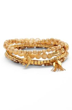 Chan+Luu+Beaded+Stretch+Bracelets+(Set+of+4)+available+at+#Nordstrom