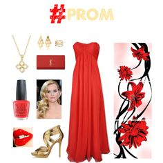 """#PROM - red & gold"" by louiselulle4 on Polyvore!"