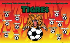 Tigres-40694 digitally printed vinyl soccer sports team banner. Made in the USA and shipped fast by BannersUSA. www.bannersusa.com