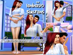 Sims 4 couple poses : Romantic Hugs - Poses TS4