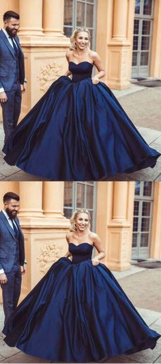 navy blue prom dresses, long prom dresses, ball gowns prom dresses, womens prom dresses