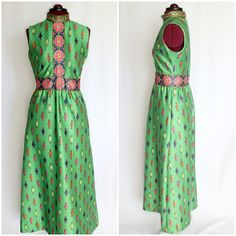 Vintage 1960s EMILIO BORGHESE Green Mod by InPursuitVintage