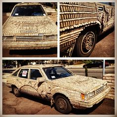 The Cork Car spotted in Santa Monica, California.