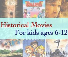 "Great educational & historical movies geared for kids ages 6-12!! These should entertain your kids, and teach them history all at the same time! Pick your faves as a family!! "" Liberty Kids "" is one of our favorites!!"
