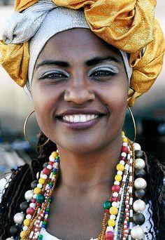 Mulher brasileira, da Bahia, estado do Brasil.