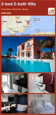 3-bed 2-bath Villa in Finestrat, Alicante, Spain ►€585,900 #PropertyForSaleInSpain