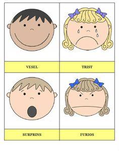 carduri-cu-emotii-pentru-dezvoltarea-emotionala-a-copiilor1 Preschool Arts And Crafts, Kindergarten Activities, Diy And Crafts, Maria Montessori, Study Skills, Children Images, Anger Management, Kids Education, Classroom Decor