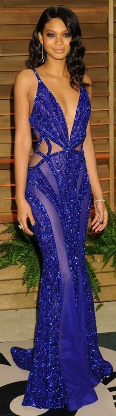 Zuhair Murad Blue Hot Formal Dress by Blog da Paulinha