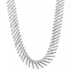 Statement diamante crystal collar necklace