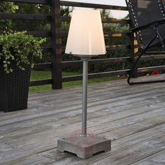 Stylische Stehleuchte New Lucca für außen, 59 cm-Terrassenleuchten-5522321-30