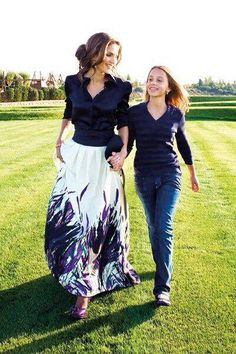 Queen Rania with her eldest daughter Princess Iman. Rania is wearing Elie Saab.