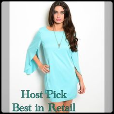 🎉HOST PICK🎉 Mint Dress 4/13 Available in sizes S,M,L This dress is very comfy and cute. If you don't see a listing for your size, please let me know and I will create a listing for you. Dresses Mini