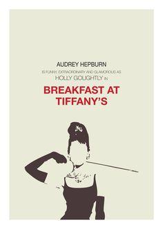 Breakfast at Tiffany's minimalist poster