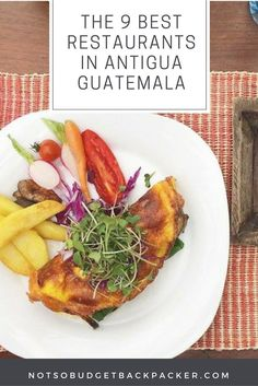 There is nothing better than spending your afternoon/evening brushing up on your Spanish at one of the best restaurants in Antigua Guatemala. Travel tips for food in Central America.