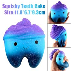 12Cm Galaxy Teeth Cake Scented Squishy Slow Rising Squeeze Toys For Kids Gifts