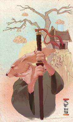 Samurai Dog by ~kofab