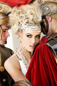 "Miss Oregon USA 2012 - ""Gardens of Goddess"" photo shoot by Fadil Berisha at Caesar's Palace Las Vegas Hotel & Casino pool."