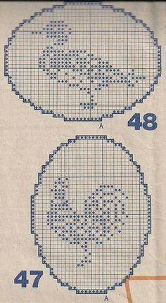 Gallery.ru / Фото #199 - Birds 1 - gabbach Crochet Birds, Easter Crochet, Crochet Cross, Thread Crochet, Crochet Stitches, Cross Stitch Bird, Cross Stitch Charts, Cross Stitch Designs, Cross Stitch Embroidery