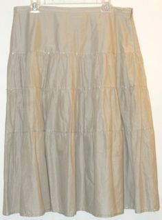 """Talbots Tiered Skirt. This Talbots Tiered Skirt was voted """"Most Flattering Fit"""" by Tradesy members! Get it before it's gone at Tradesy, where savings rule."""