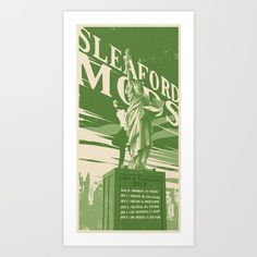 Sleaford Mods USA 2017 Tour Poster Art Print