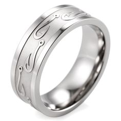 8mm Men's Textured Fish Hook Wedding Band Titanium Outdoor Hunting Ring | Jewelry & Watches, Men's Jewelry, Rings | eBay!