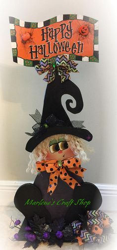 halloween witch decoration witch stand rustic witch farmhouse halloween decoration halloween witch signhalloween decorationhalloween - Halloween Witch Decorations